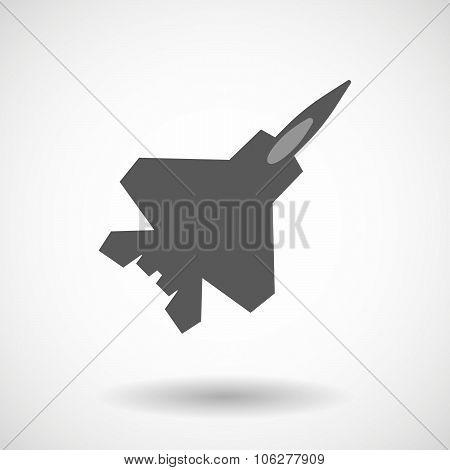 Illustration Of A Combat Plane