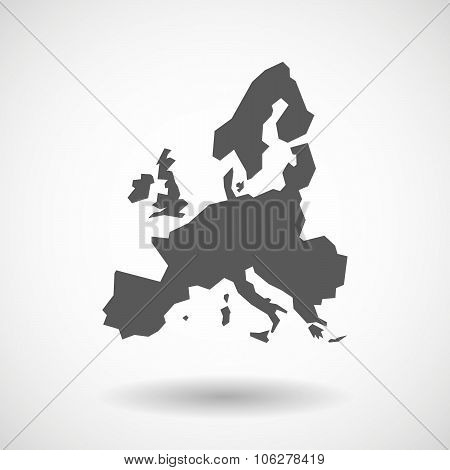 Illustration Of  A Map Of Europe