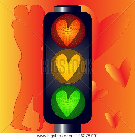 Lovers Traffic Lights