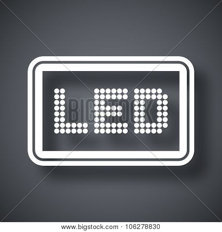 Vector Led Screen Icon