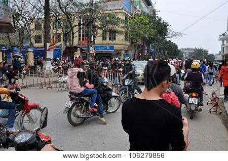 The Border Between Vietnam And China In Lao Cai
