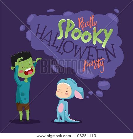 Halloween party for children.