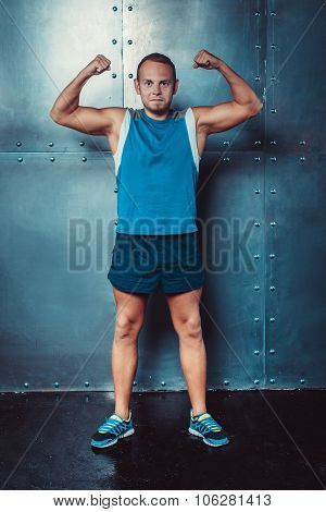 Sportsmen. Fit Male Trainer Man Concept  Fitness Workout Strenght Power