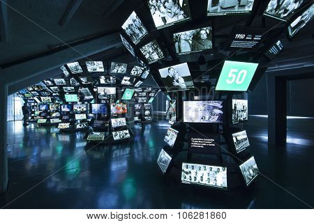 Interior Museum Of Football In Sao Paulo, Brazil