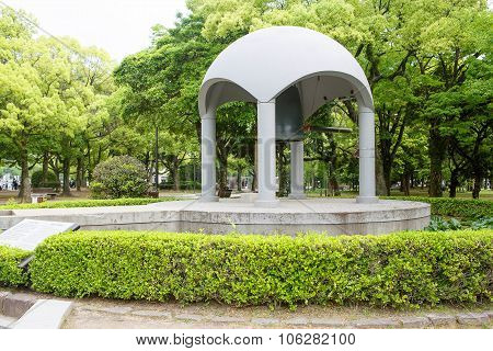 Famous Peace Bell In The Peace Memorial Park In Hiroshima