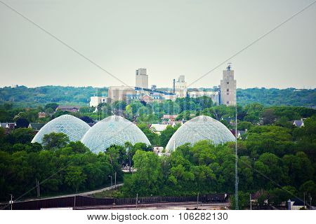 Domes Of A Botanic Garden In Milwaukee