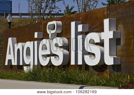 INDIANAPOLIS - CIRCA OCTOBER 2015: Angie's List Corporate Office and Headquarters