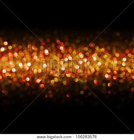 Lights Background, Abstract Seamless Blur Light Bokeh, Red Christmas Glow Pattern