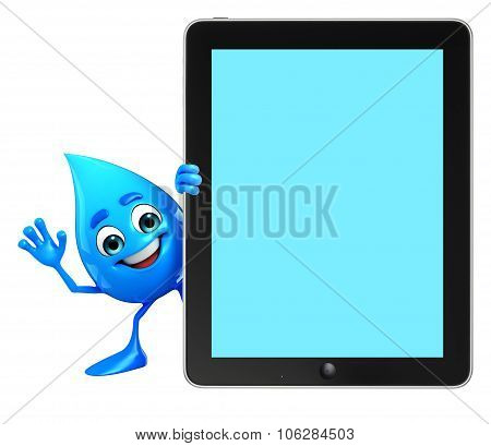 Water Drop Character With Tab