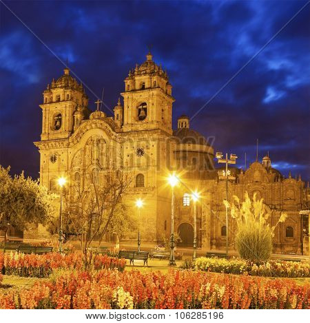 Church Of The Society Of Jesus In Cuzco