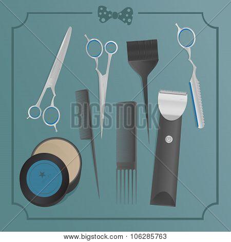 hairdresser's tools set