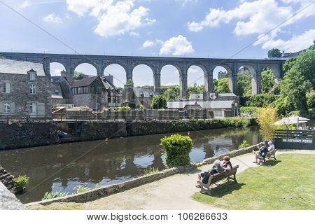 Viaduct At Dinan, Brittany, France
