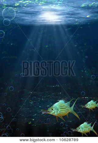 Underwater Fantasy Scene