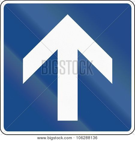 One Way Street (supplementary Sign) In Germany