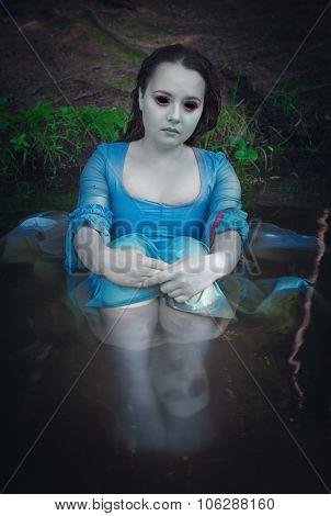 Beautiful Dead Ghost Woman