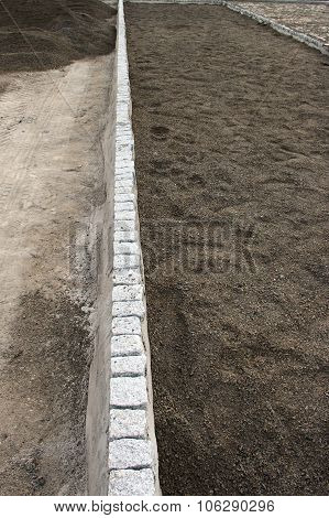 Unfinished Sidewalk