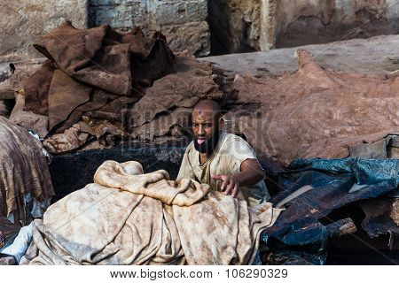 Marrakech, Morocco - Circa September 2015 - A Hard Working Man I