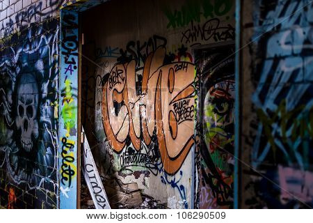 Berlin, Germany July 06, 2015: Street Art In Berlin At The Teufe