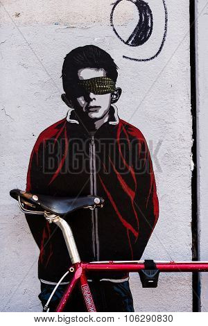 Berlin, Germany July 06, 2015: Street Art In Berlin
