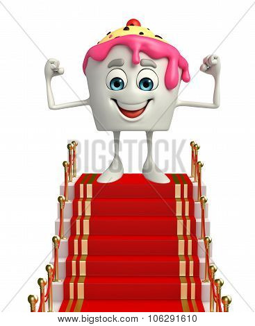 Ice Cream Character With Red Carpet