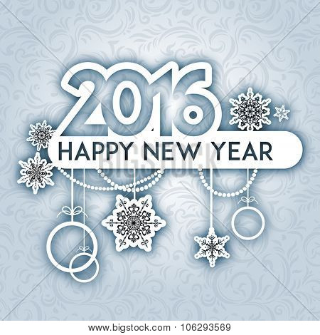 Happy new year background. Design for card, banner, invitation, leaflet and so on.