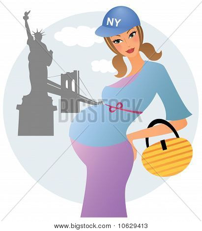 Pregnant woman in New York