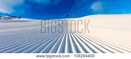 Groomed Ski Piste