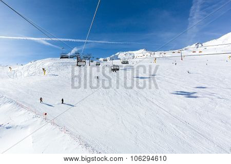 Ski Lift At Soelden