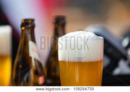 Close-up Of Beers