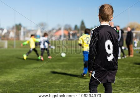 Young Boy During Soccer Match