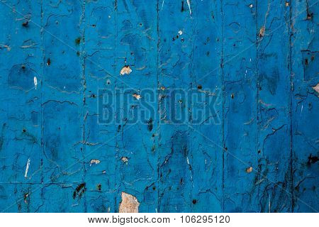 abstract shot of a Blue Wall In Morocco