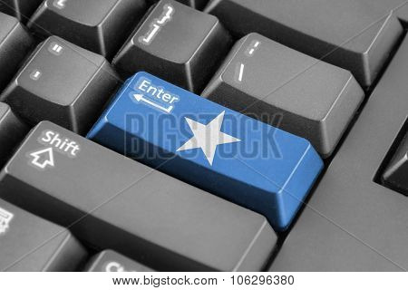 Enter Button With Somalia Flag