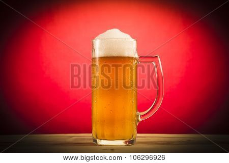 Glass of light beer