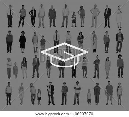 Mortar Board Education Knowledge Wisdom Graduation Concept