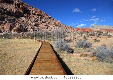 Board walk at red rock canyon, Nevada