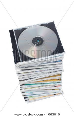 Stack Of Dvd'S And Cd'S