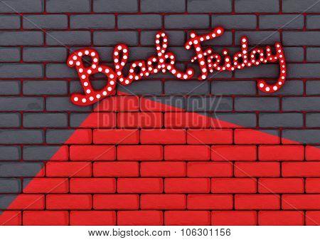Brick Background With A Message About The Black Friday Sale