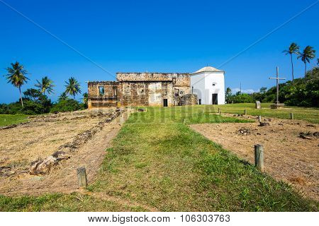 View Of Garcia D'Avila Castle In Praia Do Forte, Bahia, Brazil