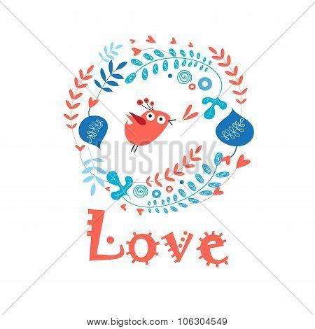 Enamored Bird In Love