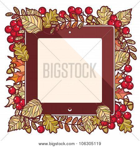 Autumn frame. Autumn background.