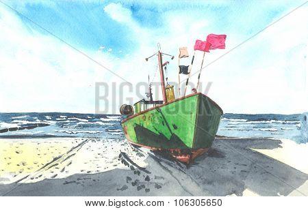 Soviet ship in Antarctica