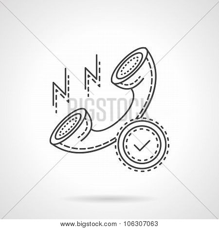 Phone contact sign flat line vector icon