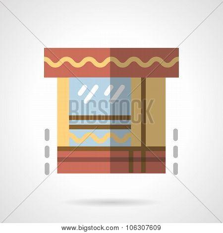 Market flat color vector icon