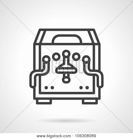 Simple line coffee machine vector icon