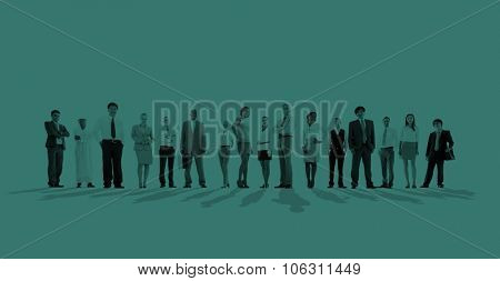 Group of Business people Team Aspiration Concept
