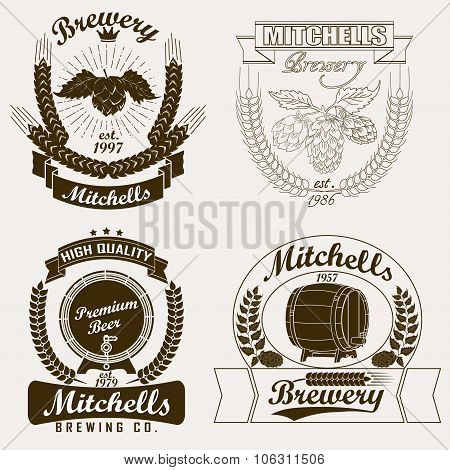 Beer logo, Brewery craft  label