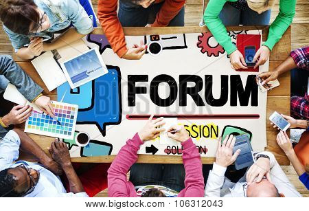 Forum Chat Message Discuss Talk Topic Concept