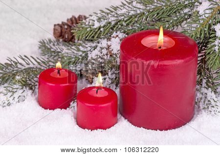 Three Burning Candles