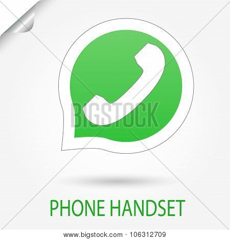 Phone Handset vector icon