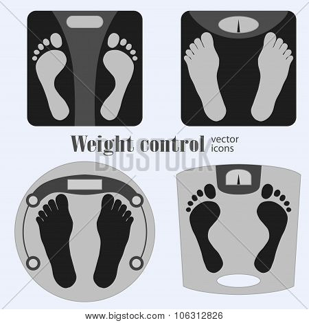 Bathroom scales and footprint